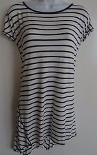 NWT Women's Max Edition White/Navy Cap Sleeve Shirt Top Size XL