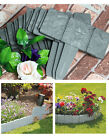 Lawn Palisade Lakeland Cobbled Stone Effect Plastic Hammer-In Garden Edging
