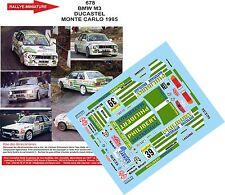 DÉCALS 1/24 réf  678 BMW M3 DUCASTEL  MONTE CARLO 1995