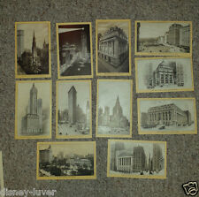 Victorian Trade Card set of 11 + cover SINGER SEWING MACHINES large New York NYC