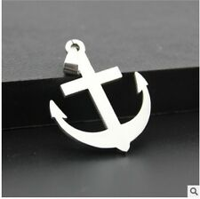 NEW anchor woman's man's Silver 316L Stainless Steel Titanium Pendant Necklace