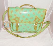 NAJ OLEARI 80s italy Post-man bag green - borsa postina originale usata cani