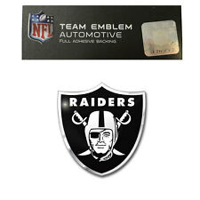Promark New NFL Oakland Raiders Color Aluminum 3-D Auto Emblem Sticker Decal