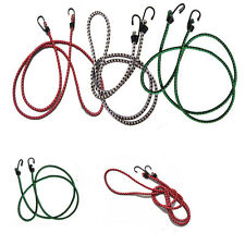 STRETCH ELASTIC BUNGEE CORDS HOOKS BIKES ROPE TIE LUGGAGE CAR STRAP ROOF RACK IO