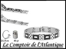 █▬█ █ ▀█▀►BRACELET GOURMETTE HOMME Acier chirurgical harley Chaine moto 9C34