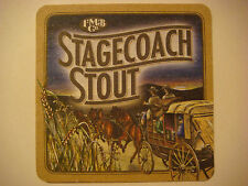 Cool Beer Coaster ~*~ Figueroa Mountain Brewing Co Stagecoach Stout ~ CALIFORNIA