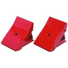 2 Piece Foldable Metal Wheel Chocks to Prevent your vehicle from rolling!