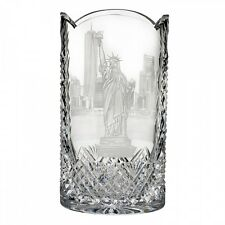 Waterford Statue of Liberty Engraved 12 Inch Vase