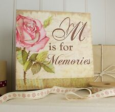 Vintage Rose - M is for Memories - Keepsake Box