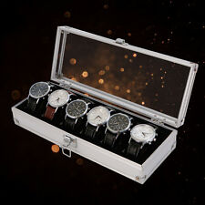 6 Grid Watch Box Insert Slots Jewelry Watches Jewelry Display Storage Box Case