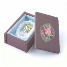 Dolls House Miniature Walnut Jewellery Box in 12th scale