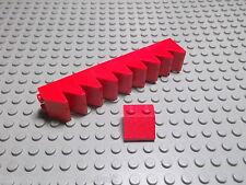 Lego 10 Schrägsteine 2x2 45 Grad rot  3039 Set 5543 4886 4555 7898
