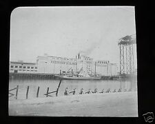 Glass Magic lantern slide FRIGORIFICO LA BLANCA FACTORY C1910 ARGENTINA