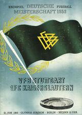 REPRINT Programm Deutsche Meisterschaft 1953 VfB Stuttgart - 1.FC Kaiserslautern