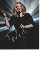 """ADELE ADKINS Hand Signed 8""""x10"""" Colour Photo Stunning Concert Pose"""