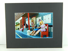 "Matted Color Photo Print ""Poor Barbie"" & Ken  Art 14"" x 17"" Diorama Photograph"