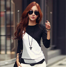 Women Casual Tops New T-Shirt Loose Fashion Blouse Cotton Blouse Long Sleeve XXL