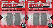 GOLDFREN FRONT BRAKE PADS (2x Sets) for: CBR900 RRS RRT RRV FIREBLADE (FA187HH)