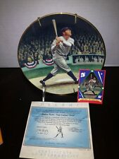 1992 Delphi Babe Ruth The Called Shot Collectors Plate With Card Coa #12947b