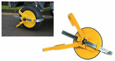 "HEAVY DUTY WHEEL CLAMP SAFETY SECURE TRAILER TOWING SECURITY LOCK 8""-10"""
