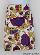 Merona Tropical Floral Pencil Skirt Bold Mod Stylized Textured Stretch Cotton 8