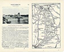 35 St-Servan 1921 carte, photo + guide (4 p.) La Rance St-Jouan Mordreuc Minihic