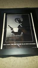 Dirty Harry The Enforcer Clint Eastwood Rare Promo Poster Ad Framed!
