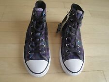 Converse Chuck Taylor All Star Hi  Allium Purple Plaid Shoes Size: 2 Youth
