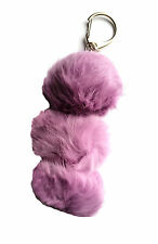 Rabbit Fur Keychain - Purple