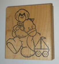 Teddy Bear Rubber Stamp Sail Boat Toy Daisy Kingdom Sailing Outfit Bandana Wheel