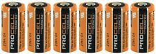 Duracell Procell 3V CR123A Lithium Battery PL123A 6 Pack Bulk