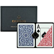 Copag Poker Size Jumbo Index - 100% Plastic Red Blue with Case