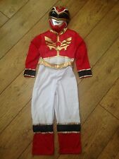 Power Rangers Red Costume & Mask Outfit  5-6 Years World Book Day