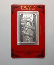 1 oz Pamp Suisse 2012 Lunar Dragon silver bar