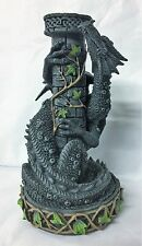 Nemesis Now Black Dragon Wrapped Round A Black Ivy Tower Gothic Candle Holder