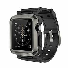 Case Screen Protector For Apple Watch 42mm Rugged Sport iWatch Accessories Cover