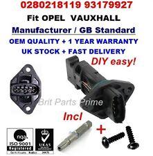 OPEL Vauxhall Corsa C 1.0 1.2 1.4 Twinport Medidor De Masa Aire Sensor 0280218119