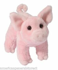 "BUTTONS 6"" long PIG stuffed plush animal toy pink by Douglas Cuddle Toy swine"