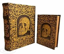 Celtic Knotted Skull Book Box Set of 2 Handmade Decorative Book Secret Storage