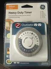 GE Indoor Plug-In Heavy Duty Timer
