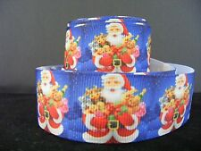 "1"" (25mm) Christmas Grosgrain Ribbon - By the Metre - #4550 Santa with toys"