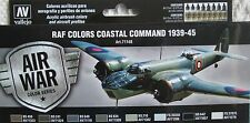 Vallejo Model Air Val71148 WWII RAF Coastal Command  8 colour paint set