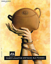 PUBLICITE ADVERTISING 074  1989  DIDIER LAMARTHE  maroquinerie sacs 2