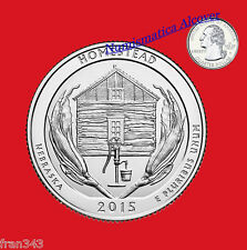 ESTADOS UNIDOS USA quarter dollar 2015 D HOMESTEAD NEBRASKA UNC