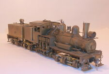 HO BRASS PFM/UNITED  GEARED LOGGING CLASS B THREE TRUCK SHAY  UNPAINTED