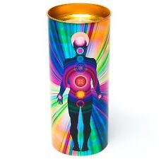 Human Chakra Stained Glass Effect Candle Something Different