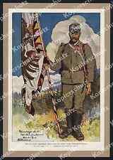 Bouvard Fahnenträger Standarte 3. Tiroler Kaiserjäger-Rgt Trient Mattarello 1917