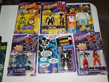 SPIDERMAN MARVEL TOY BIZ FIGURE LOT VENOM RHINO KING PIN ELECTRO SPIDER WOMAN
