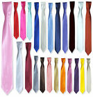 UK BOYS SLIM TIES PAGEBOY WEDDING PROM DINNER SUIT TIE