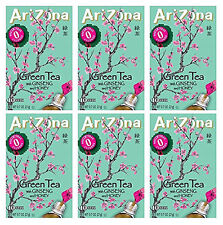 AriZona Green Tea with Ginseng Sugar Free Iced Tea Stix 10 Count (Pack of 6)